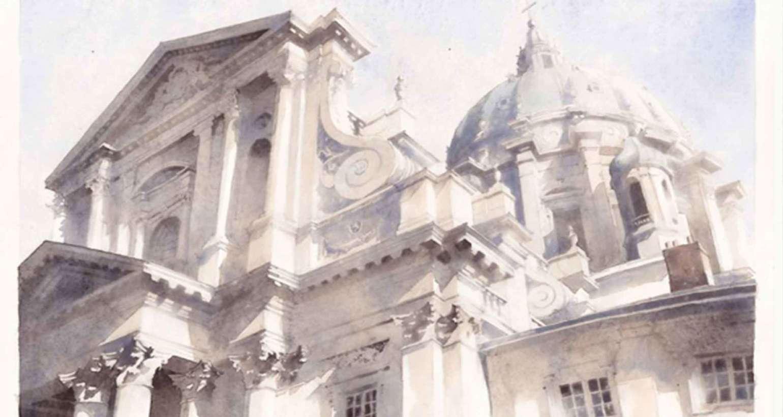 Акварель «Архитектура»