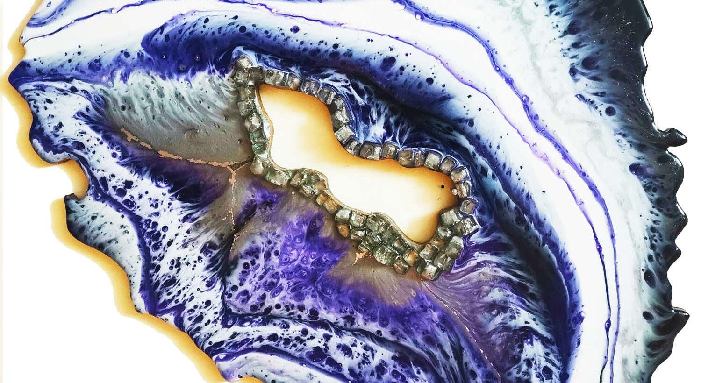 Срез камня — Геоды (Geodes эпоксидной смолой)