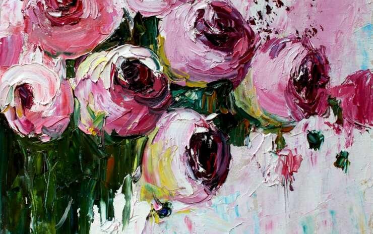 Масляная живопись — Цветы