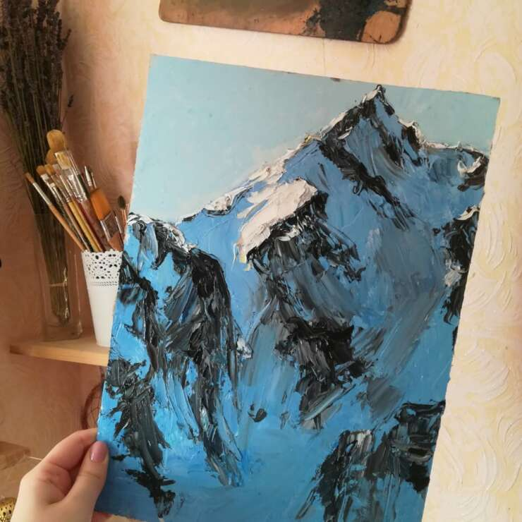 Масляная живопись — Горы